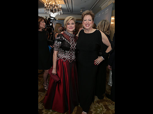 Caryl Stern and Ghada Irani attend the 2014 UNICEF Ball at the Beverly Wilshire Hotel in Beverly Hills, CA on Tuesday, January 14, 2014 (Photo: Alex J. Berliner / ABImages