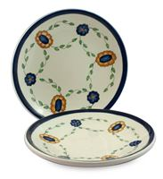 Ceramic dinner plates (Pair), 'Margarita'