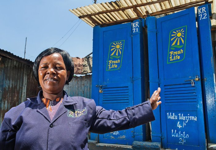 Fresh Life has installed toilets that provide 100,000 residents with safe sanitation. They aim to build a customer service platform so they can efficiently scale to serve all 8 million residents of informal settlements in Nairobi.