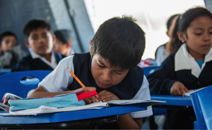 After two earthquakes struck Mexico in September 2017, UNICEF helped created temporary learning spaces for children whose schools had been damaged or destroyed.