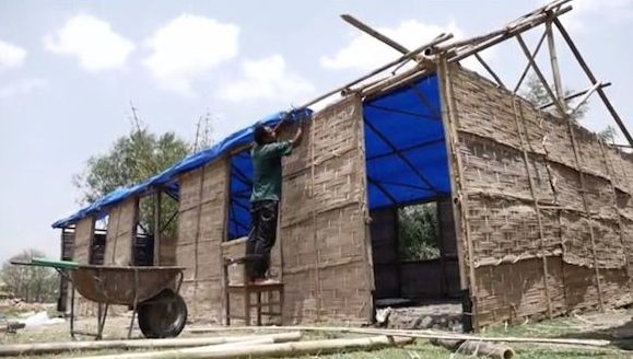In Charikot, near the epicenter of Nepal's May 12 earthquake UNICEF and partners are building temporary schools.