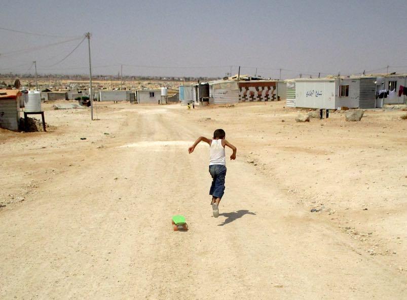 Za'atari refugee camp in Jordan