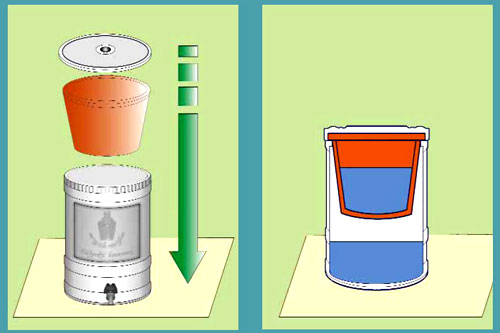 Image of a flower pot filter