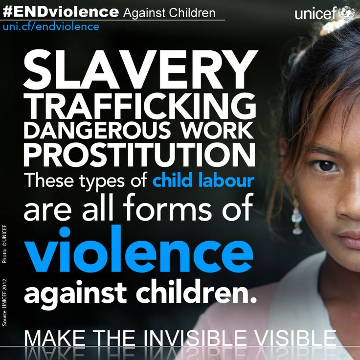 UNICEF #EndViolence in slavery, trafficking, and prostitution