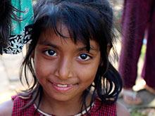 A smiling girl from Ecuador