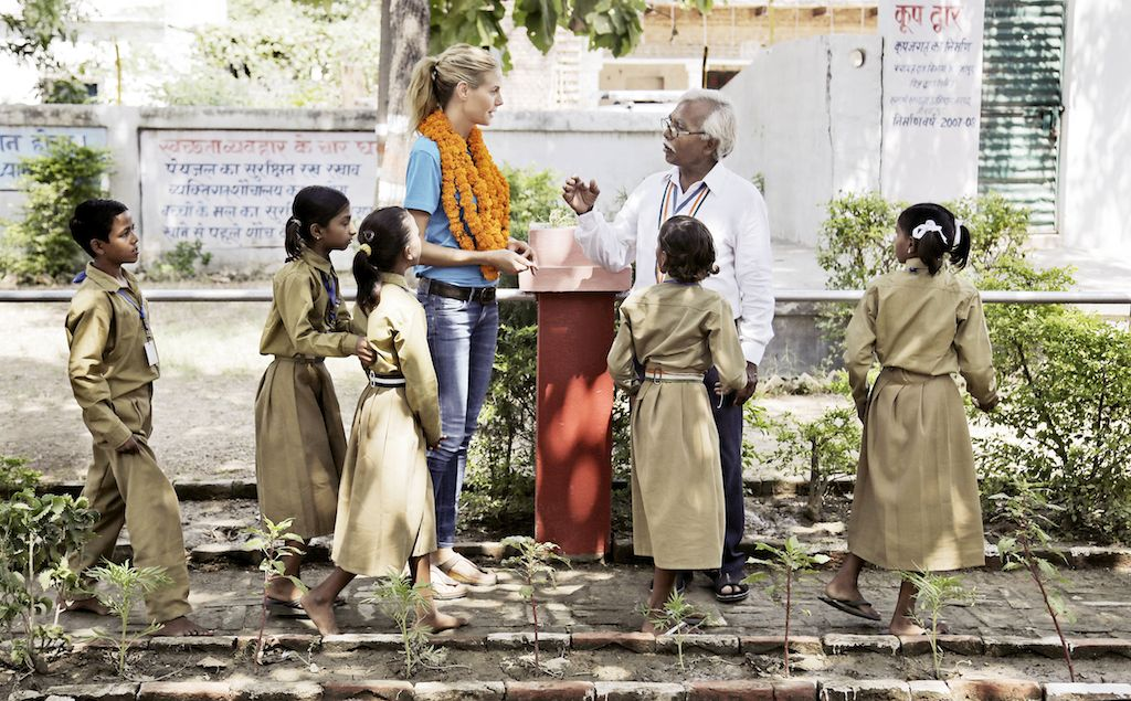 UNICEF Supporter Heidi Klum during a UNICEF Field Visit to India in 2015