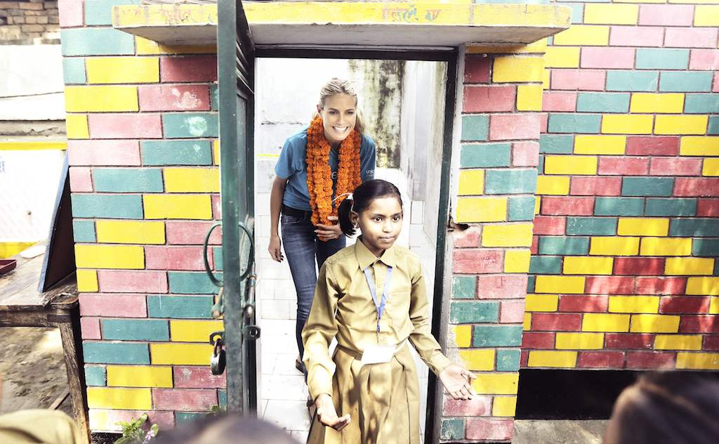 UNICEF Supporter Heidi Klum on a UNICEF Field Trip to India during 2015.