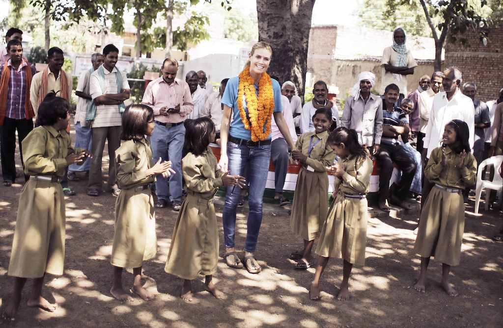 UNICEF Supporter Heidi Klum on a UNICEF Field Visit to India during 2015