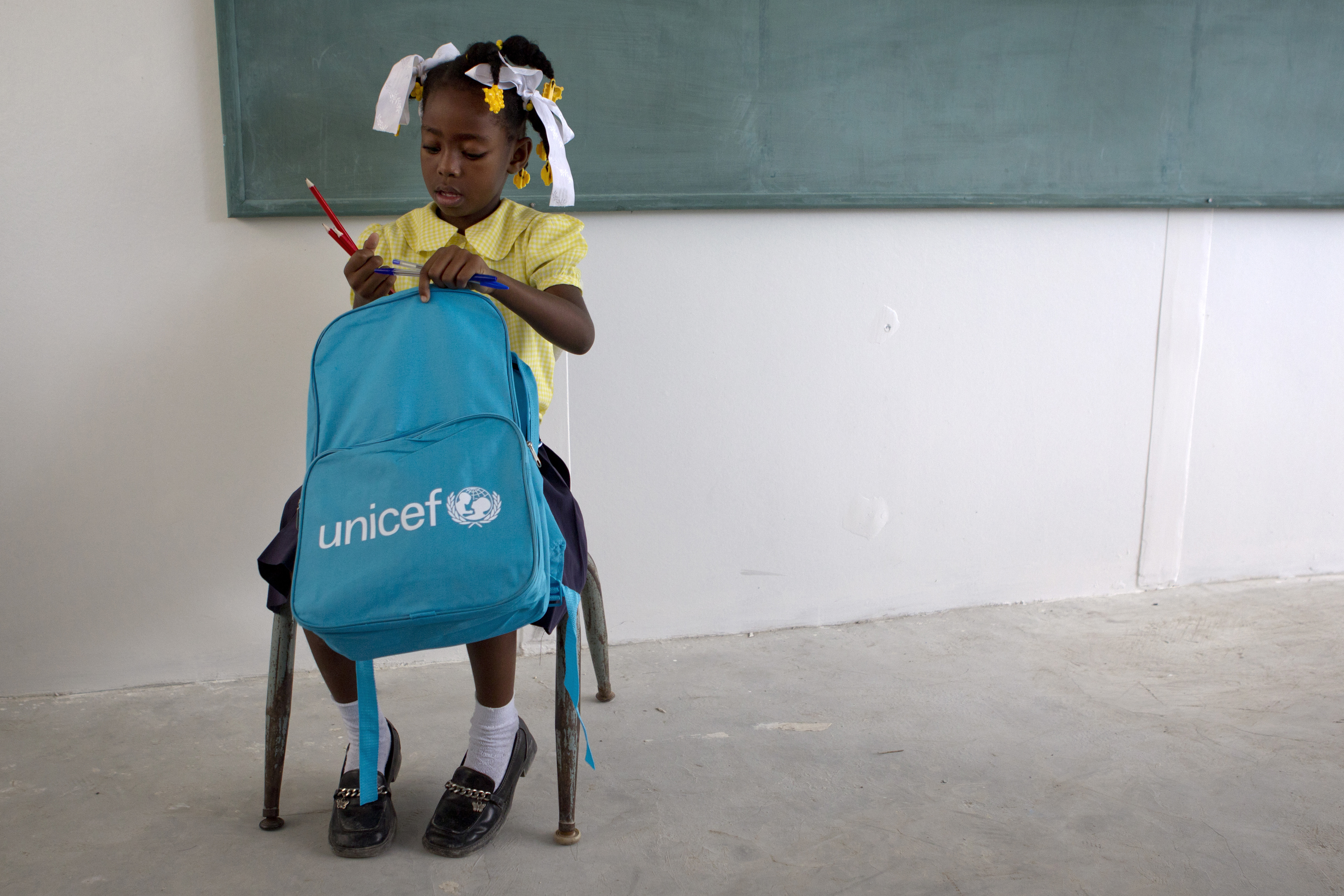 Haitian Girl in School