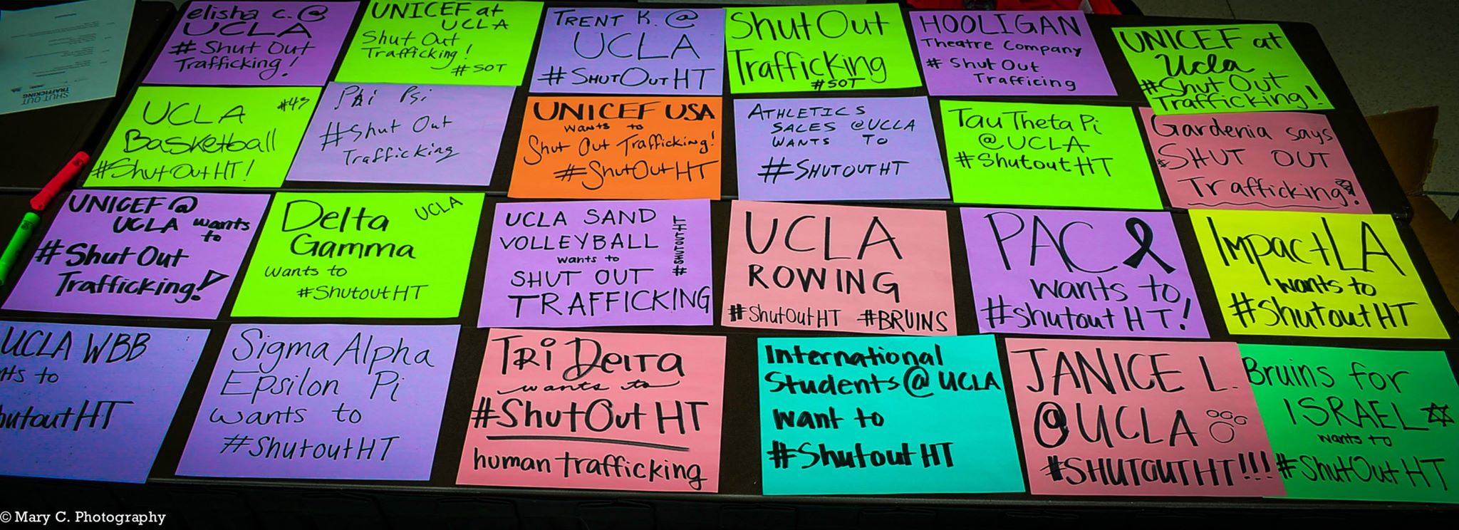 Shut Out Trafficking Signs at UCLA