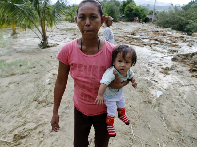 Some 100,000 Filipinos have been displaced by the tropical storm Koppu