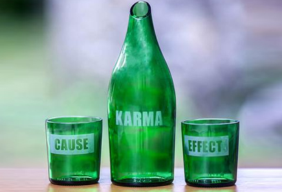 Karma Notes Cause and Effect Carafe and Glasses