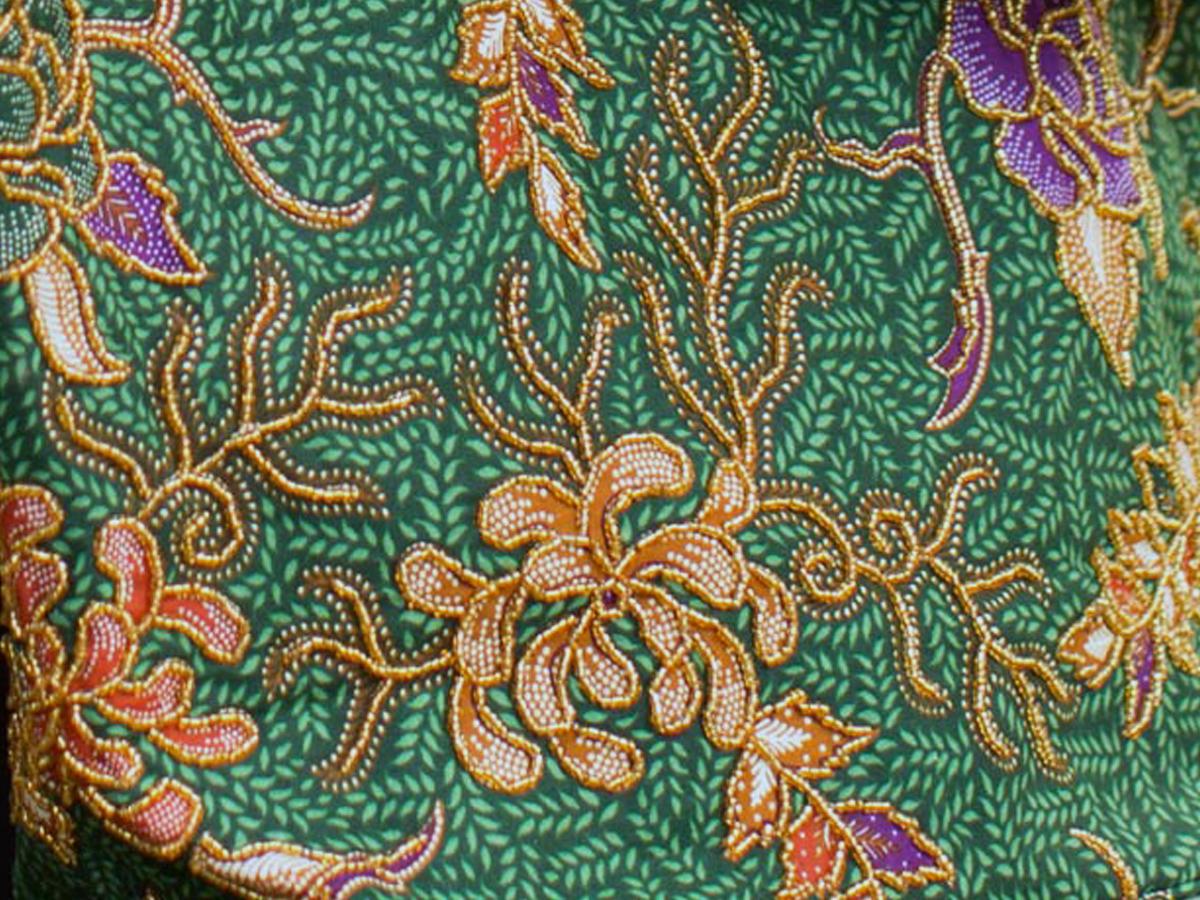 'Princess Art' Batik and Bead Cotton Tote Bag