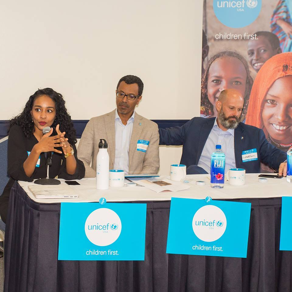 UNICEF USA Community Engagement Fellow Abir Ibrahim introduces UNICEF Sudan Representatives on Capitol Hill