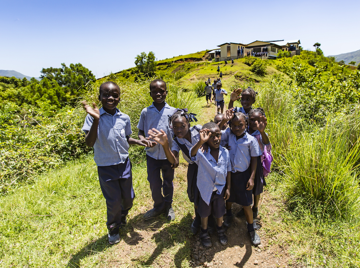 With help from UNICEF, the people of Plaisance, Haiti built The Beudoret National School on the top of a hill.