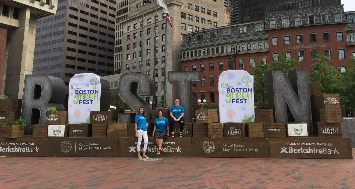 New England supporters representing UNICEF USA in Boston!