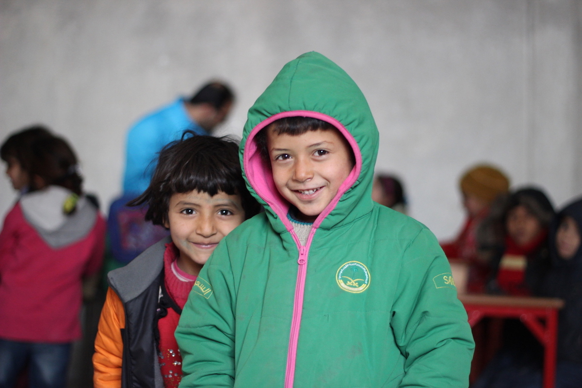 Hasan attends classes in a UNICEF-supported school in Jibreen receiving more than 600 internally displaced children from Aleppo, Syria.