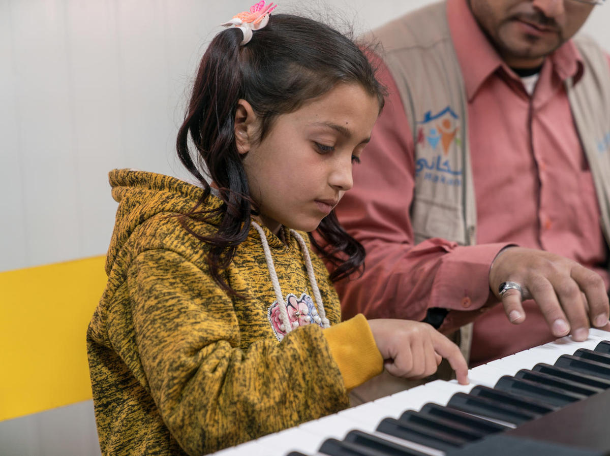 unicef, child refugees, Syrian refugees, music therapy,