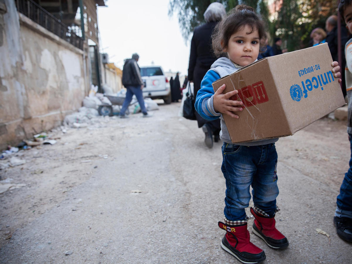 UNICEF, Syria, humanitarian aid