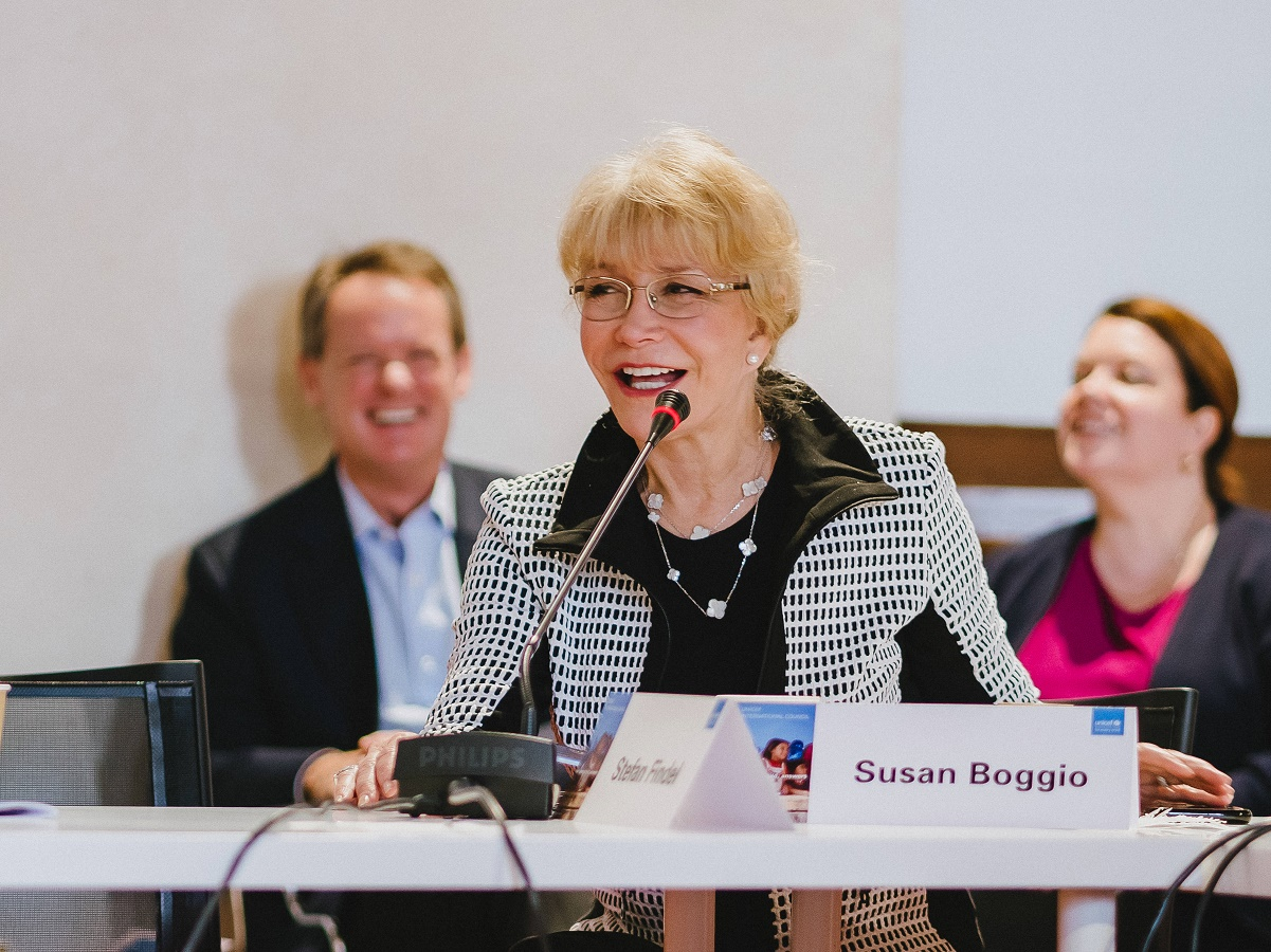 UNICEF USA Southwest Regional Board Chair Susan Boggio participates in the UNICEF International Council Symposium in Florence, Italy. November, 2018.