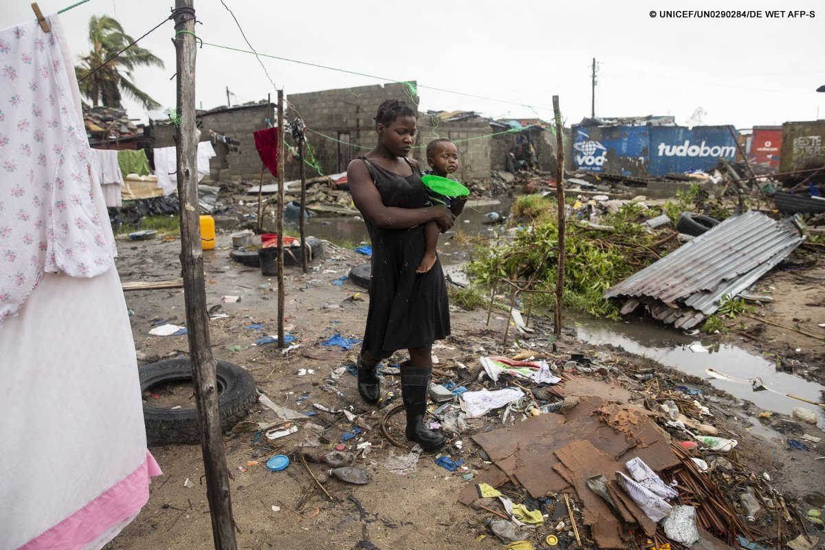 "UNICEF Executive Director Henrietta Fore in Beira, Mozambique, warns: ""The situation will get worse before it gets better."""