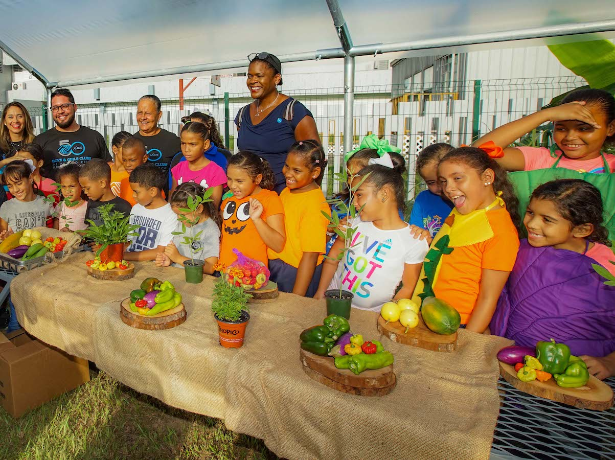 Money raised by children Trick-or-Treating for UNICEF after Hurricane Maria helps kids learn about gardening and heatlhy eating at Boys & Girls Clubs of Puerto Rico.