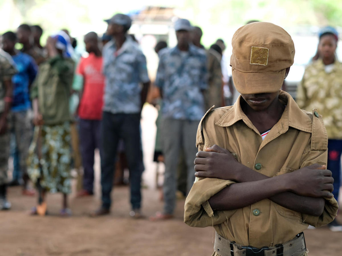 With UNICEF's support, more than 200 children were released from the ranks of armed groups at a ceremony in Yambio, South Sudan in April 2018.