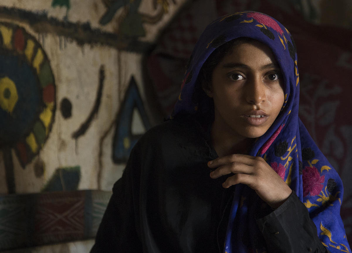 Fifteen-year-old Mare'ah and her family share a house with three other families in Hudaydah, Yemen.