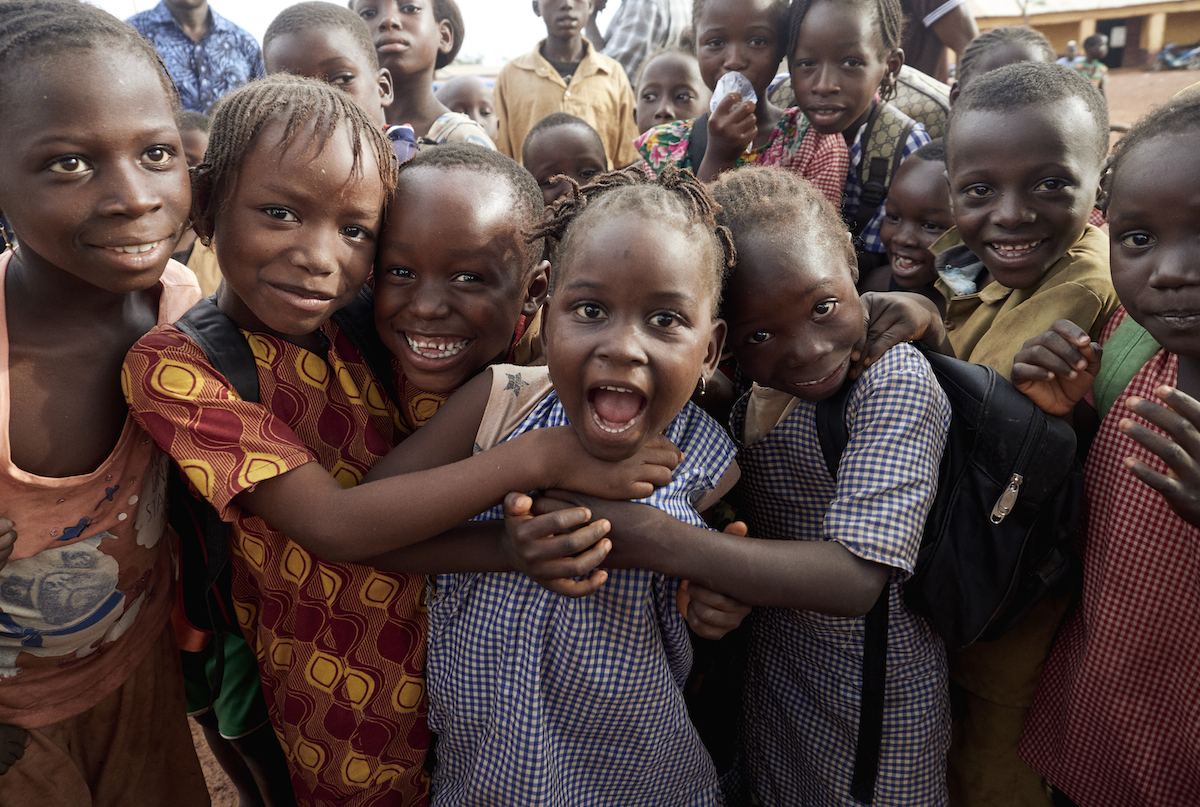 Children in Guinea, where one-third of the population lacks access to safe water, a basic human right — and where UNICEF is working to change that.
