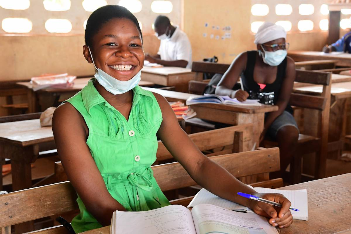 Arielle Sadia, a 16 years old student in Odienné, in the Northwest of Côte d'Ivoire.