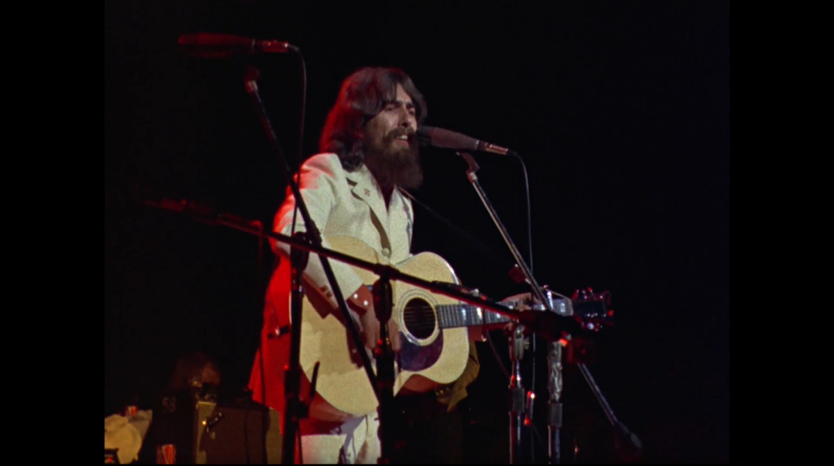 George Harrison performing at Madison Square Garden on Aug. 1, 1971, to raise money for UNICEF emergency relief in Bangladesh.