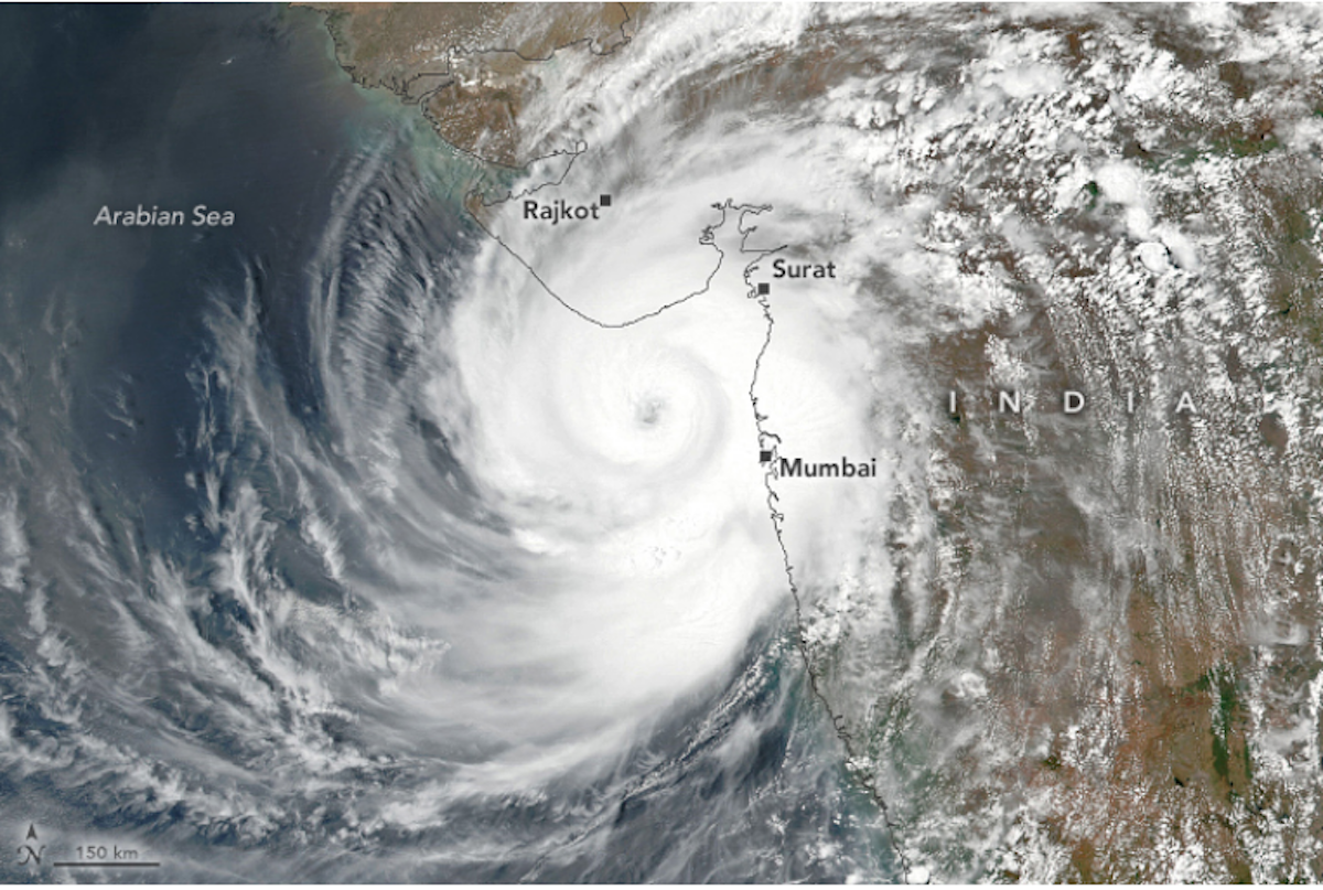 Cyclone Tauktae hit India's western state of Gujarat on May 18, 2021.