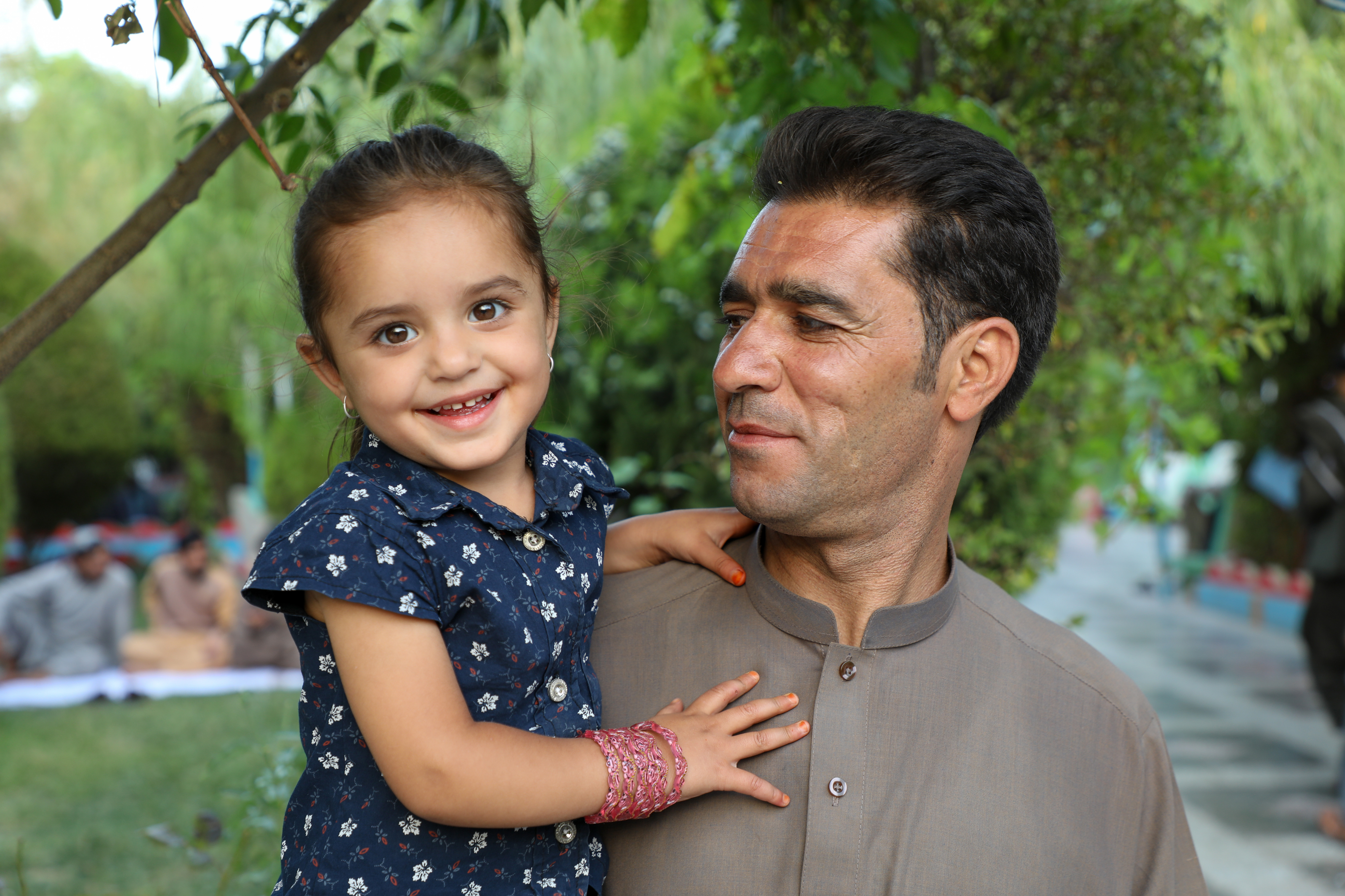 When the Afghanistan government announced the reopening of the country after the COVID-19 lockdown, Rahimullah and his daughter Rahila, 7, headed to the park.