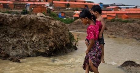 Heavy Monsoon Rains Drench Rohingya Refugee Camps in Bangladesh