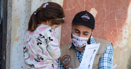 Bringing Joy and COVID Health Information to Children in Syria