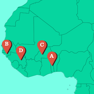 Map It Out Quiz UNICEF USA - West africa map quiz