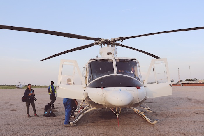 UNICEF transports midwives by helicopter into remote locations in northeast Nigeria as part of its effort to improve maternal and newborn health.