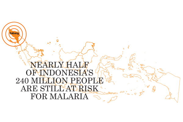 Nearly half of Indonesia's 240 people are still at risk for malaria.