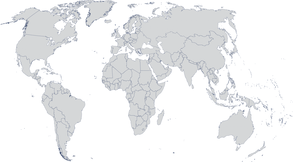 Map of the world showing countries where Unicef treated malnourished children.