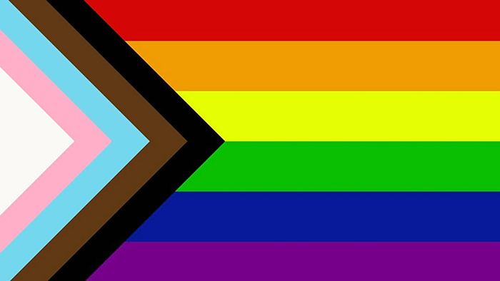 "Graphic designer Daniel Quasar redesigned the LGBT Rainbow Flag to bring further awareness for ""inclusion and progression,"" adding black and brown stripes to symbolize people of color and pastel pink, blue and white used in the transgender flag."