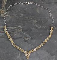 Citrine Y necklace, 'India Delight