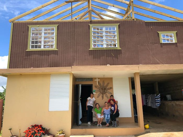 Thanks to a UNICEF USA-supported hurricane recovery program in partnership with New York state, this family's home in Barranquitas, Puerto Rico, will soon have a new roof.