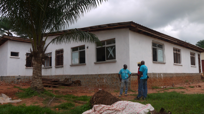 The new operating theatre currently under construction. (c) UNICEF/ CAR/2014