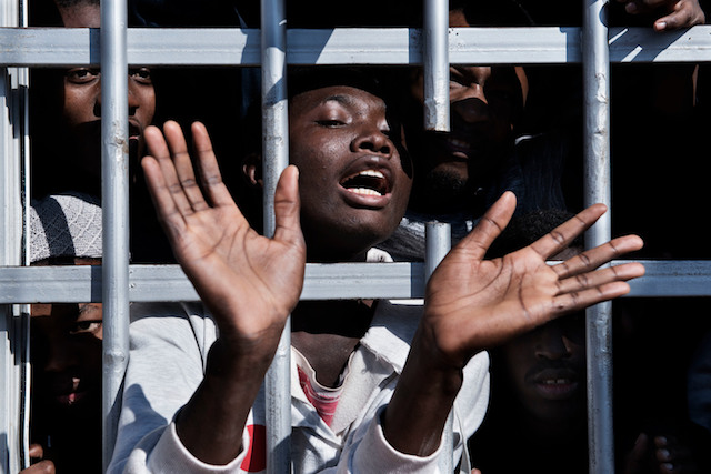 Child migrants escaping sub-Saharan Africa are detained in Libya.