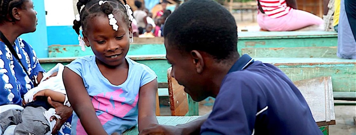 Loudina, eight-year-old Haitian girl orphaned by Hurricane Matthew