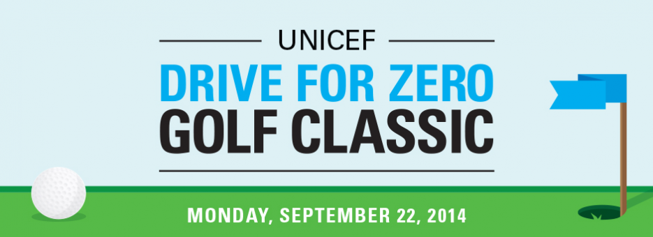 The 2014 Drive for Zero Golf Classic Title Banner