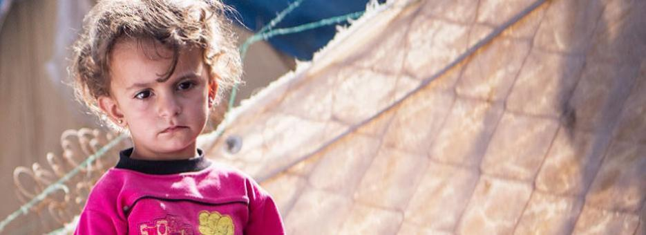 A Syrian Girl in a Refugee Camp in Jordan