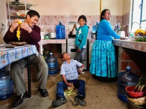 """The most important thing is water. Without it we don't have life,"" says Mrs. Esteban, in rural Bolivia, where UNICEF helps ease water shortages. Her son Josue says, ""My favorite thing is having baths and spraying water at the dog."""