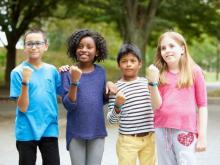 Using the UNICEF Kid Power Band's free Kid Power app, kids earn points that unlock funding for therapeutic food packets