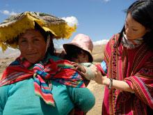 Lucy Lui in Peru with UNICEF